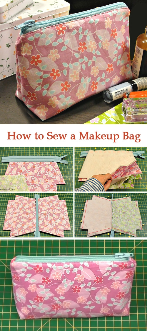 how to sew a makeup bag diy tutorial ideas Interesting Quilted Makeup Bag Pattern