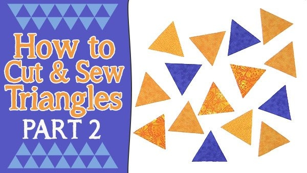 how to sew triangles together for quilting part 2 alanda Sewing Triangles Together Quilting Inspirations