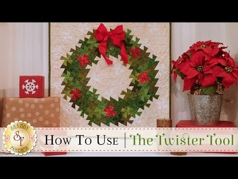 how to use the twister tool a shab fabrics quilting Interesting Twister Quilt Pattern Wreath Gallery