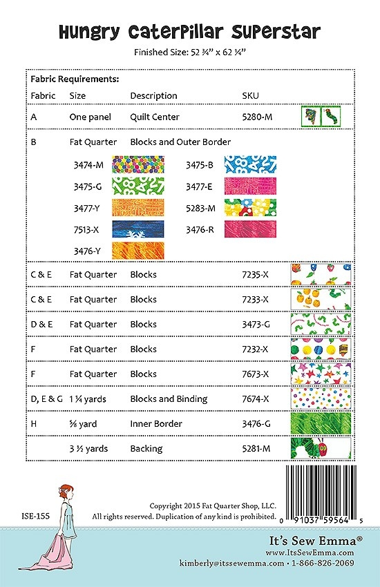 hungry caterpillar superstar downloadable pdf quilt pattern Unique Hungry Caterpillar Quilt Pattern