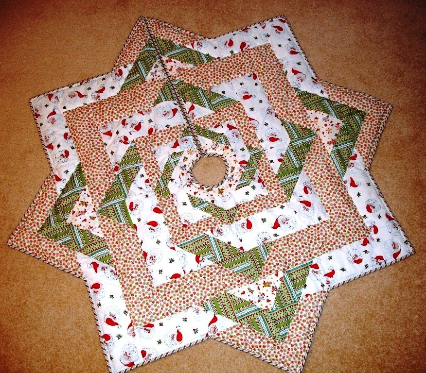 i like this but there is no pattern sewing christmas Elegant Quilted Tree Skirt Patterns Inspirations
