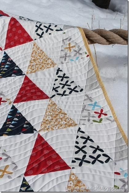 i sometimes forget how a simple triangle quilt can be Isosceles Triangle Quilt Ruler Inspirations