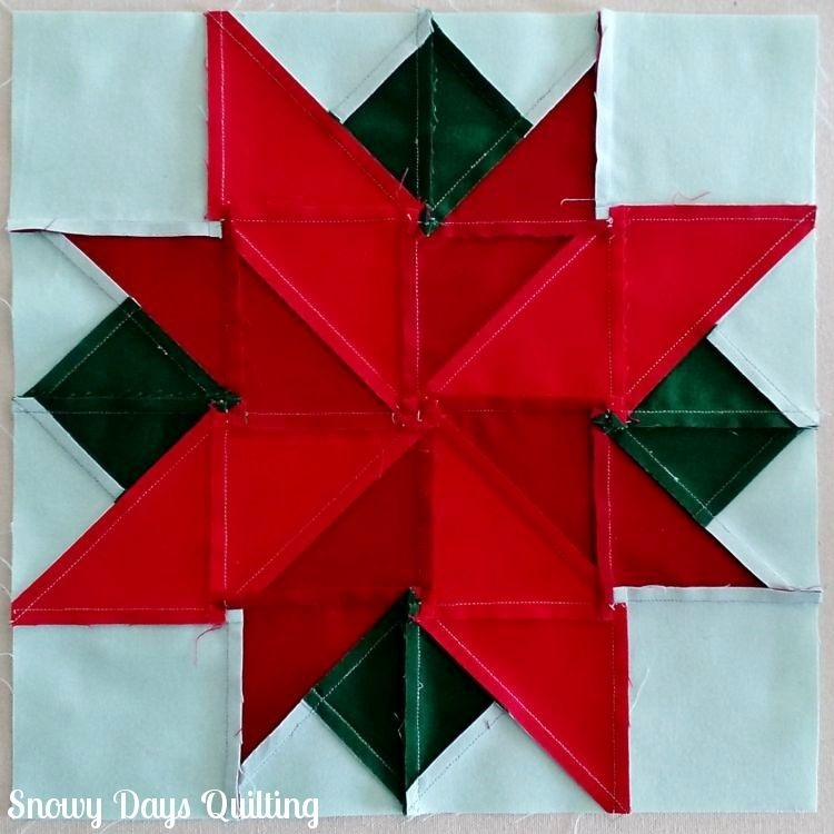i wish you a merry quilt a long poinsettia sewing Modern Poinsettia Quilt Block Pattern Gallery