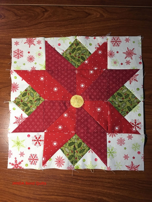 i wish you a merry quilt along block 7 released janda bend Modern Poinsettia Quilt Block Pattern Gallery