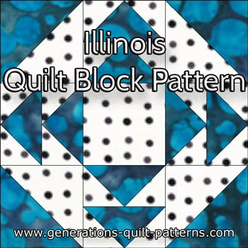 illinois quilt block instructions in 4 sizes Elegant State Quilt Block Patterns Gallery