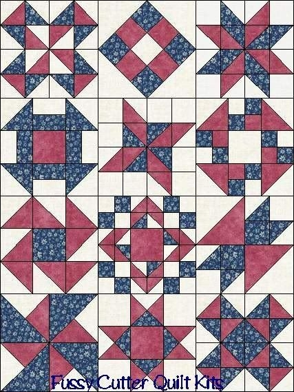 image result for easy 2 or 3 color quilt blocks more Interesting Three Color Quilts Blocks
