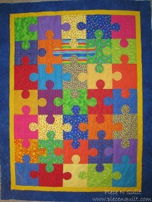 in love with this puzzle quilt pattern darling quilting Interesting Puzzle Piece Quilt Pattern
