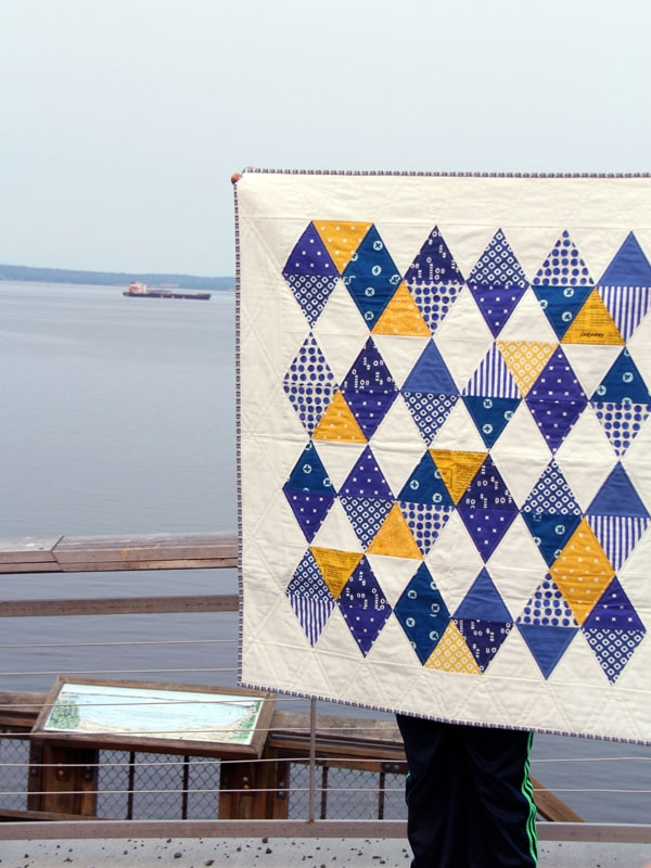 indigo triangle ba quilt cluck cluck sew Elegant Triangle Baby Quilt Pattern Inspirations