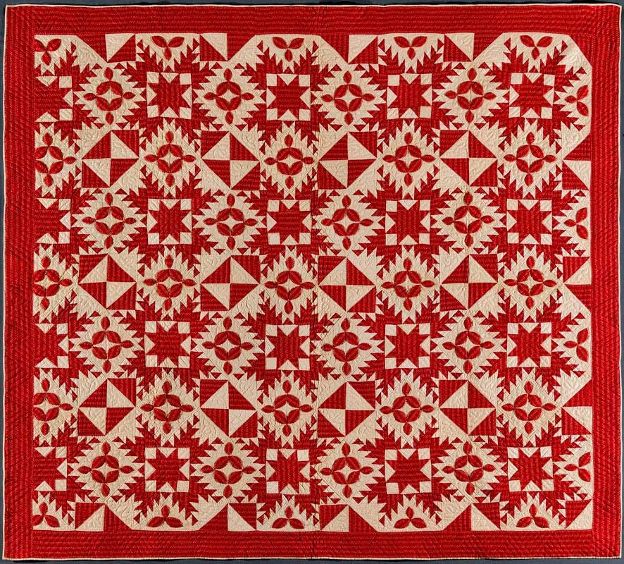 infinite variety three centuries of red and white quilts Cool Red And White Quilt Patterns