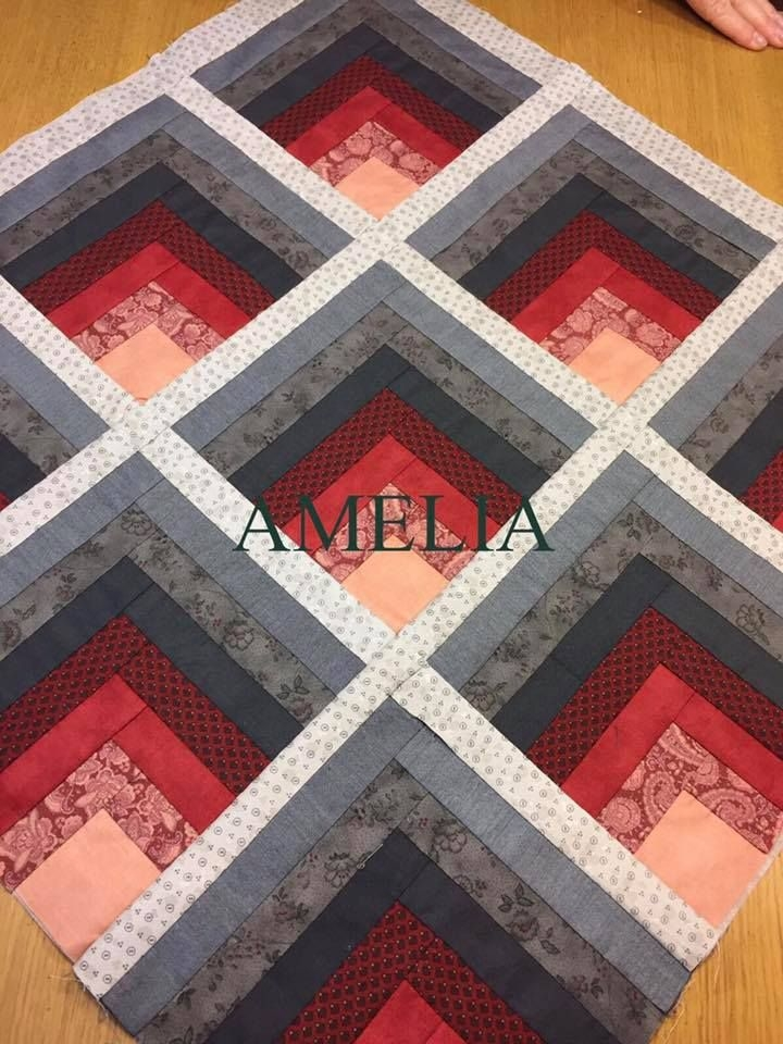 infinity mirror esque quilt patterns and tips log cabin Unique Patchwork Quilt Designs Patterns Gallery