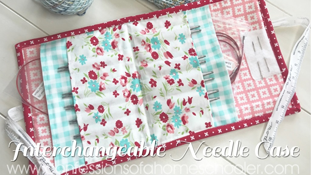 interchangeable knitting needle case tutorial Elegant Quilted Knitting Needle Case Pattern