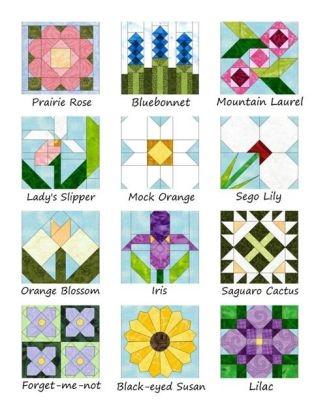 jeannes quilting Cozy Flower Quilt Block Patterns