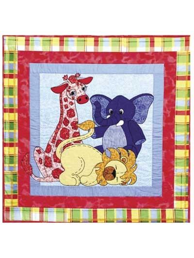 jungle babies quilt pattern Cozy Quilting Applique Patterns