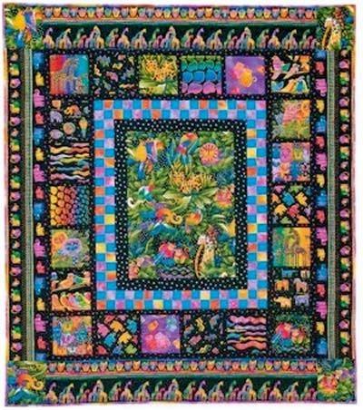jungle songs quilt pattern free quilt pattern nancy Cozy Laurel Burch Quilt Patterns Gallery