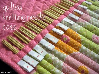 kai ta hetera quilted knitting needle case knitting Elegant Quilted Knitting Needle Case Pattern Inspirations
