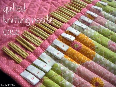 kai ta hetera quilted knitting needle case knitting Elegant Quilted Knitting Needle Case Pattern
