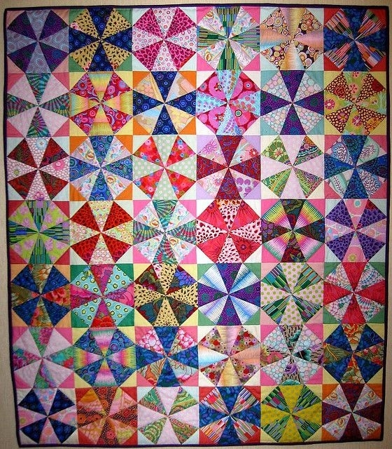 kaleidoscope caleidoscopio patchwork kaleidoscope quilt and Cozy Kaleidoscope Patchwork Quilt Pattern
