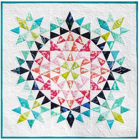 kaleidoscope mini quilt debbi groskopf seen at robert Cozy Kaleidoscope Patchwork Quilt Pattern