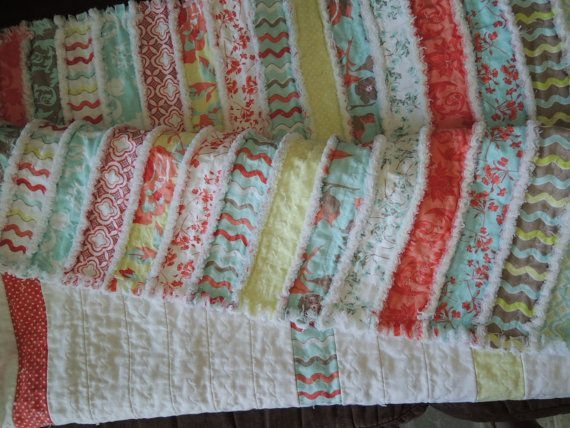 kensington jelly roll rag quilt pattern tutorial with photos Elegant String Pieced Rag Quilt Pattern