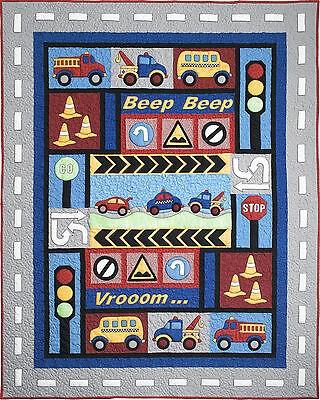 kids quilts traffic jam truck fire engine car applique quilt pattern ebay Stylish Fire Truck Quilt Pattern Inspirations