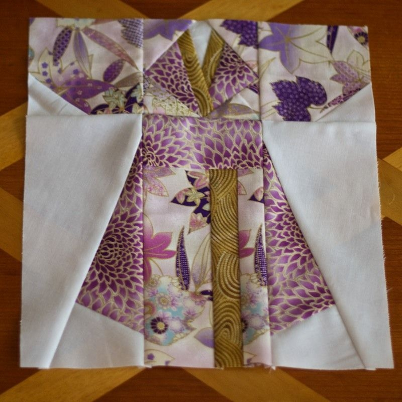 kimono quilt block one crafts japanese quilts quilt Stylish Kimono Quilt Paper Piecing Inspirations