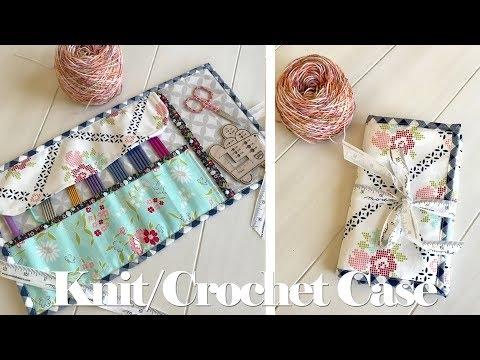 knitting crochet needle case tutorial youtube Elegant Quilted Knitting Needle Case Pattern Inspirations