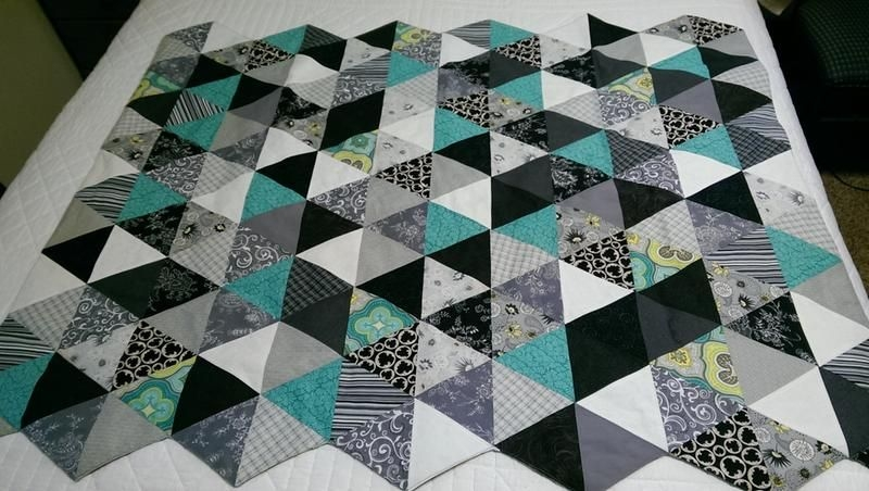 large 60 degree triangle ruler 3 9 finished side Cozy Quilt Patterns Using 60 Degree Triangle Inspirations