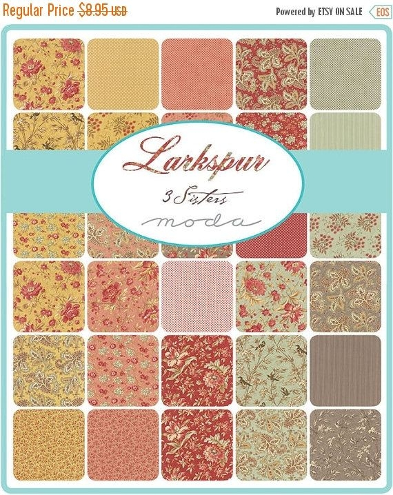 larkspur charm pack 3 sisters for moda 5 inch precut Stylish Stylish Precut Quilting Fabric