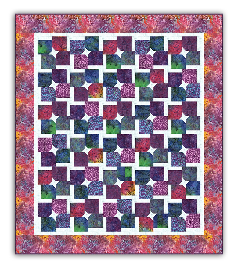 last one twirls and swirls batik full size quilt kit quirky girl quilts Cool Batik Fabric Quilt Patterns Inspirations