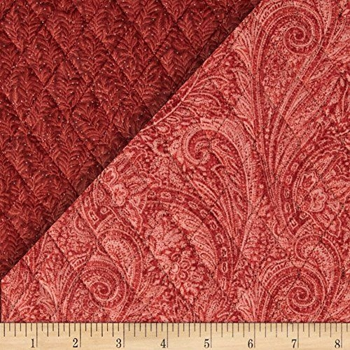 lauren double sided quilted paisley rust fabric the yard Elegant Pre Quilted Fabric By The Yard