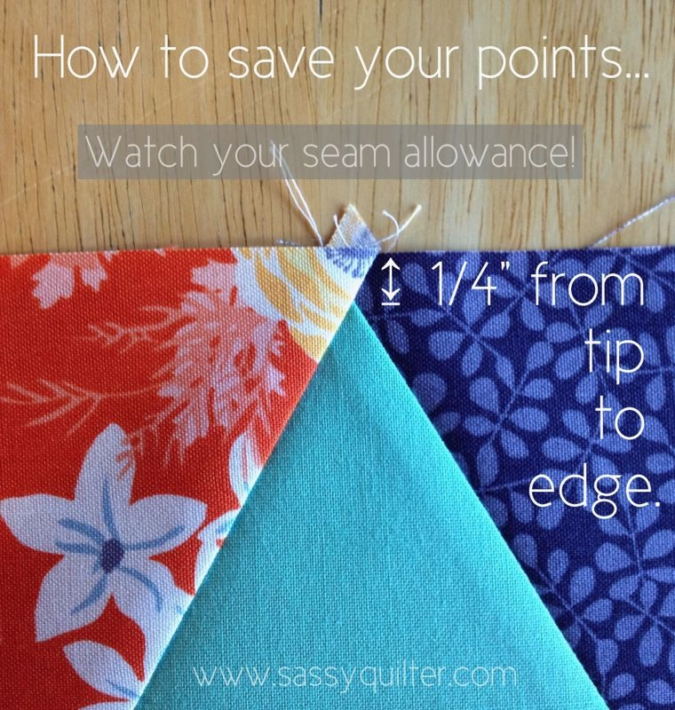 lining up points i will master a triangle quilt even if it Sewing Triangles Together Quilting Inspirations