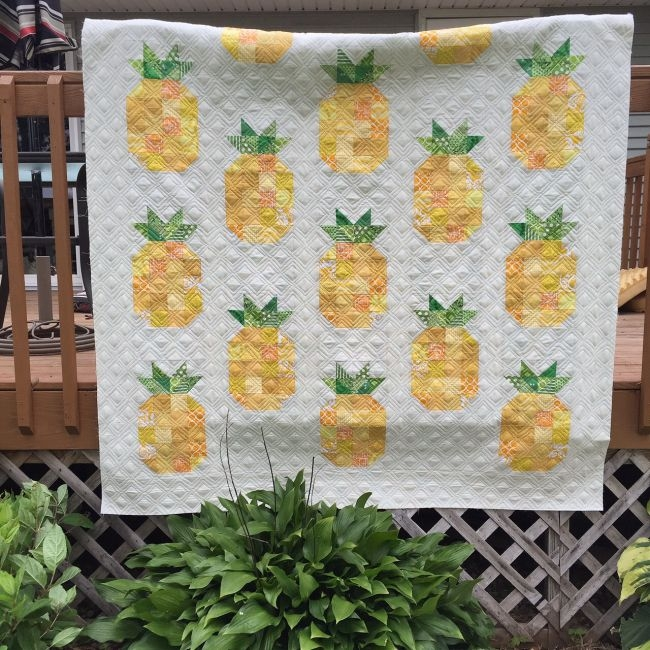 listen learn sew with pat free pattern quilting Interesting Pineapple Quilt Patterns
