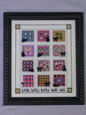 little bitty kitty quilt nov dec cross stitch pattern Stylish Cross Stitch Quilt Patterns Inspirations