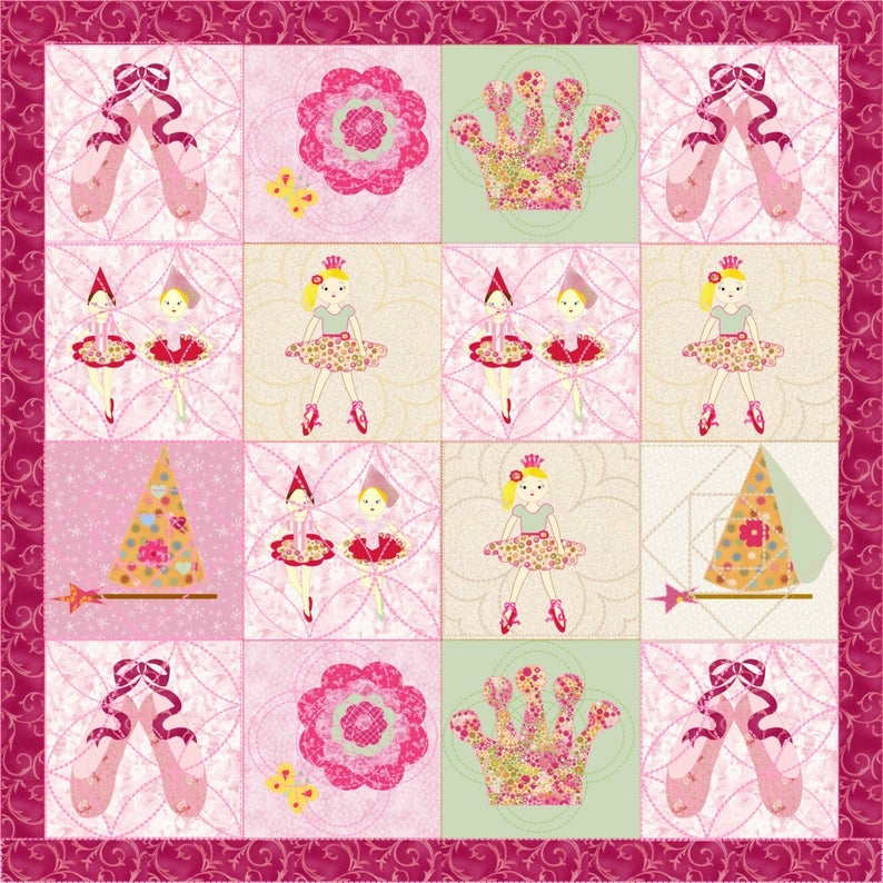 little girls quilt pattern ballerina quilt patternkindergarden quilts Stylish Little Girl Quilt Patterns Gallery