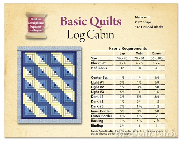 log cabin quilt fabric requirements basic quilts log Quilt Fabric Calculator Inspiration