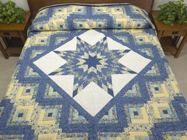 lone star log cabin quilt magnificent carefully made Stylish Lone Star Log Cabin Quilt Pattern Free Inspirations