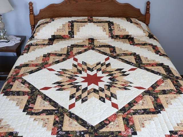 lone star log cabin quilt outstanding made with care Stylish Lone Star Log Cabin Quilt Pattern Free Inspirations