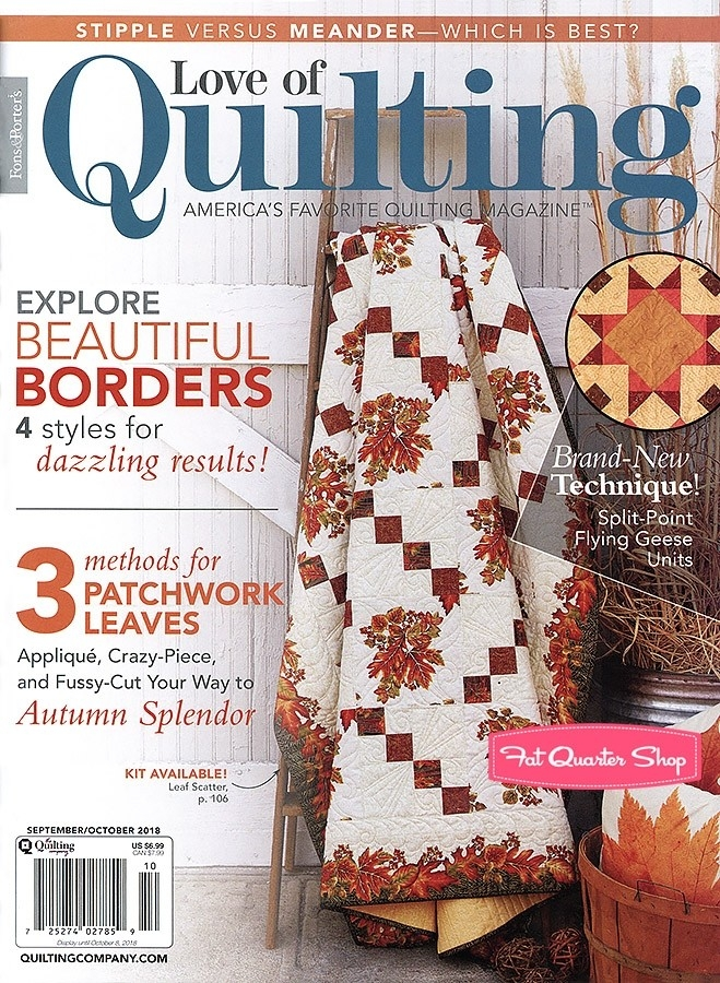 love of quilting magazine september october 2018 issue fat Cozy The Quilt Pattern Magazine