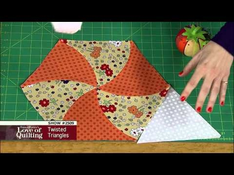 love of quilting preview twisted triangle quilt tutorial Modern Twisted Triangle Quilt Pattern Gallery