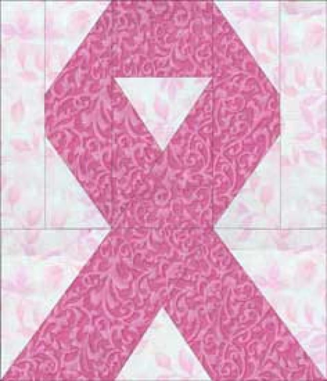 make awareness ribbon quilt blocks for a friend or family Cool Cancer Ribbon Quilt Pattern Gallery