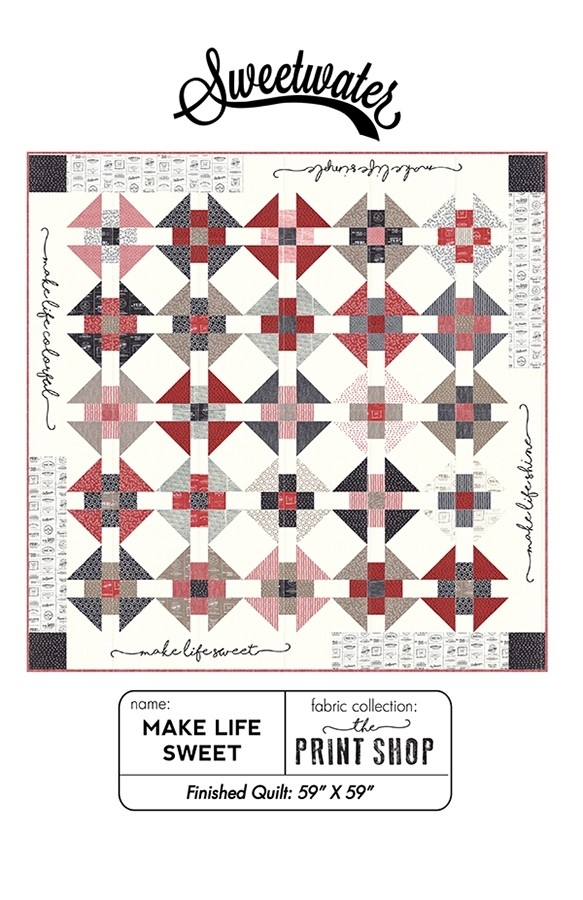 make life sweet quilt pattern sweetwater sw p272 fat Sweetwater Quilt Patterns Gallery