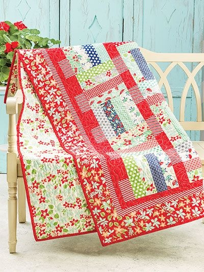 make this quick and easy quilt using just 24 precut 2 12 2 1 2 Strip Quilt Patterns