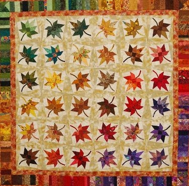 maple leaf quilt pattern free quilt patterns Elegant Maple Leaf Quilt Block Pattern Gallery