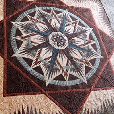 mariners compass Modern Mariners Compass Quilts