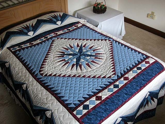 mariners compass quilt outstanding well made amish quilts Modern Mariners Compass Quilts