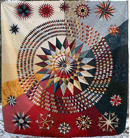 mariners compass supreme quilt Modern Mariners Compass Quilts