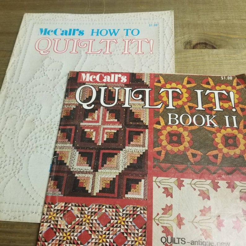 mccalls how to quilt it and quilt it book 2 quilting patterns vintage quilt pattern Modern Mccalls Vintage Quilt Patterns