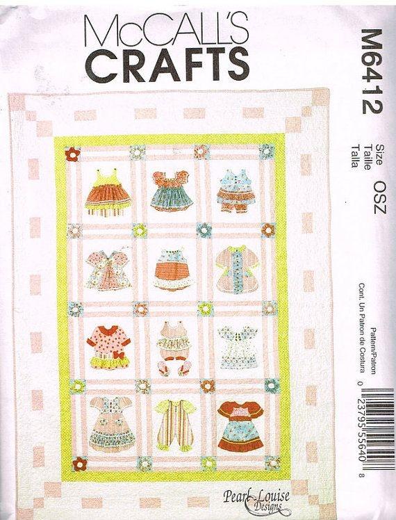 mccalls m6412 quilt pearl louise designs uncut quilt Modern Mccalls Vintage Quilt Patterns