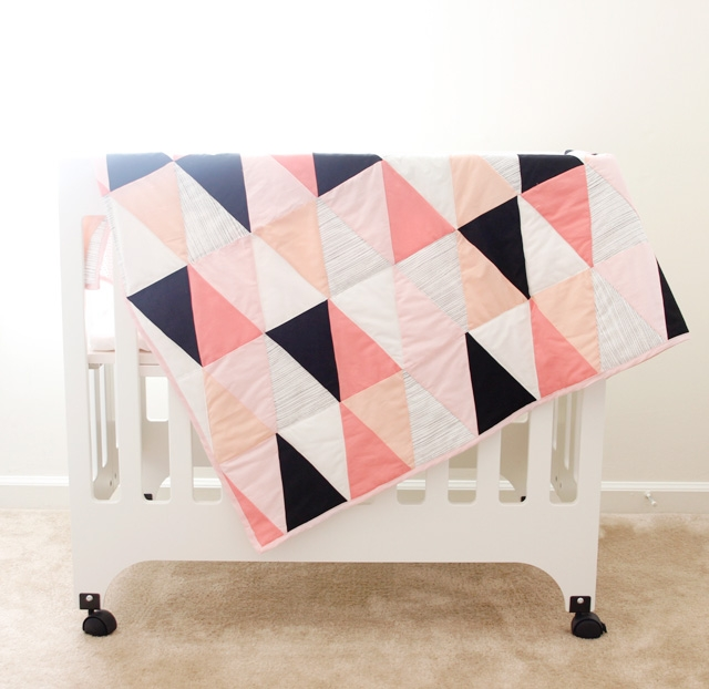 modern ombre bw triangle quilt tutorial pattern see Cozy Triangle Quilt Tutorial