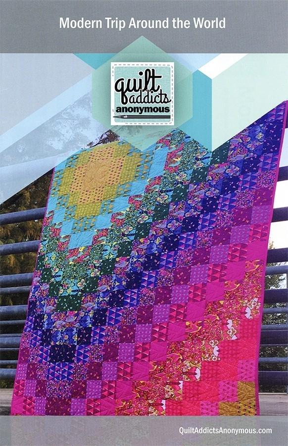 modern trip around the world quilt pattern quilt addicts Cozy Around The World Quilt Pattern Gallery